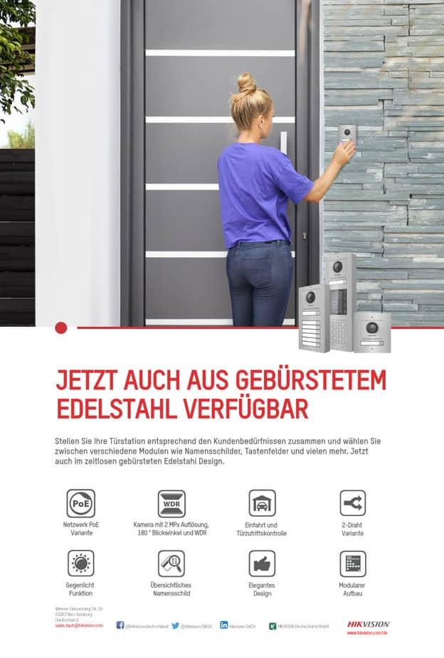 KD8003 HIKVISION IP Sprechanlage auch in Edelstahl
